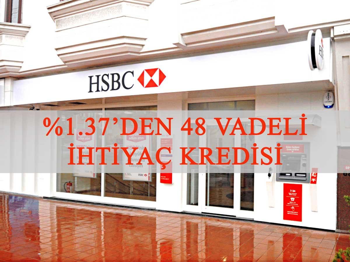 HSBC ihtiyaç kredisi